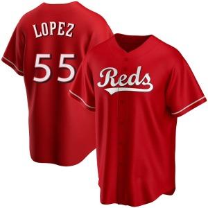 Alejo Lopez Cincinnati Reds Replica Alternate Jersey - Red