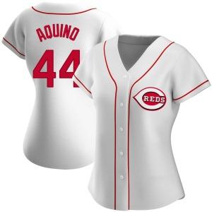 Aristides Aquino Cincinnati Reds Women's Authentic Home Jersey - White