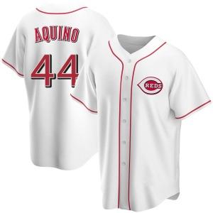 Aristides Aquino Cincinnati Reds Youth Replica Home Jersey - White
