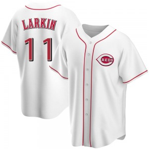 Barry Larkin Cincinnati Reds Replica Home Jersey - White