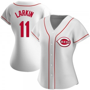 Barry Larkin Cincinnati Reds Women's Authentic Home Jersey - White