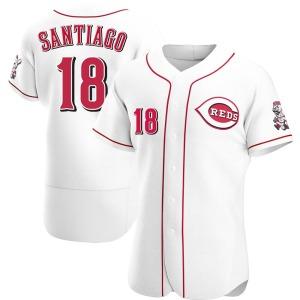 Benito Santiago Cincinnati Reds Authentic Home Jersey - White