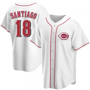 Benito Santiago Cincinnati Reds Replica Home Jersey - White