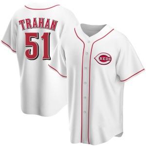 Blake Trahan Cincinnati Reds Replica Home Jersey - White