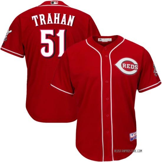 Blake Trahan Cincinnati Reds Youth Replica Cool Base Alternate Majestic Jersey - Red