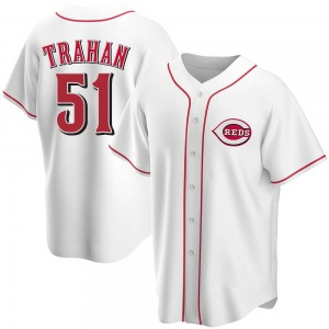 Blake Trahan Cincinnati Reds Youth Replica Home Jersey - White