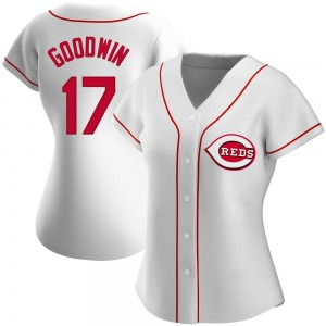 Brian Goodwin Cincinnati Reds Women's Authentic Home Jersey - White