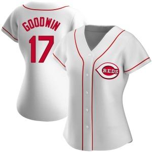 Brian Goodwin Cincinnati Reds Women's Replica Home Jersey - White