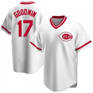 Brian Goodwin Cincinnati Reds Youth Replica Home Cooperstown Collection Jersey - White