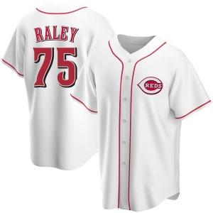 Brooks Raley Cincinnati Reds Replica Home Jersey - White