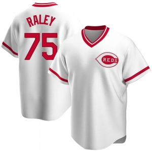 Brooks Raley Cincinnati Reds Youth Replica Home Cooperstown Collection Jersey - White