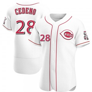 Cesar Cedeno Cincinnati Reds Authentic Home Jersey - White