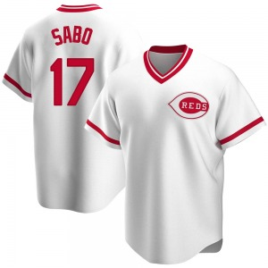 Chris Sabo Cincinnati Reds Replica Home Cooperstown Collection Jersey - White