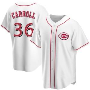 Clay Carroll Cincinnati Reds Replica Home Jersey - White
