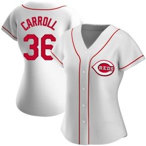 Clay Carroll Cincinnati Reds Women's Authentic Home Jersey - White