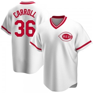 Clay Carroll Cincinnati Reds Youth Replica Home Cooperstown Collection Jersey - White