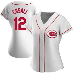 Curt Casali Cincinnati Reds Women's Replica Home Jersey - White