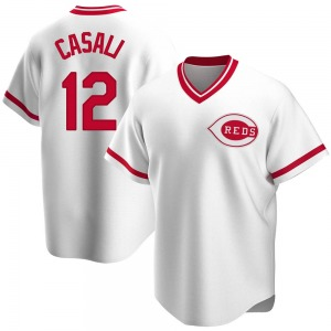 Curt Casali Cincinnati Reds Youth Replica Home Cooperstown Collection Jersey - White