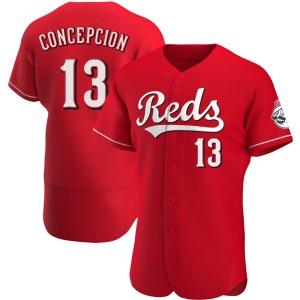 Dave Concepcion Cincinnati Reds Authentic Alternate Jersey - Red