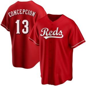Dave Concepcion Cincinnati Reds Replica Alternate Jersey - Red