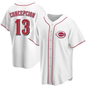 Dave Concepcion Cincinnati Reds Replica Home Jersey - White