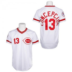 Dave Concepcion Cincinnati Reds Replica Throwback Mitchell and Ness Jersey - White
