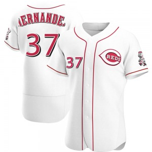 David Hernandez Cincinnati Reds Authentic Home Jersey - White