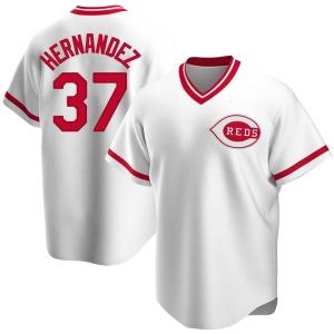David Hernandez Cincinnati Reds Replica Home Cooperstown Collection Jersey - White