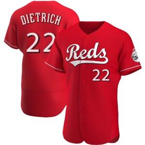 Derek Dietrich Cincinnati Reds Authentic Alternate Jersey - Red