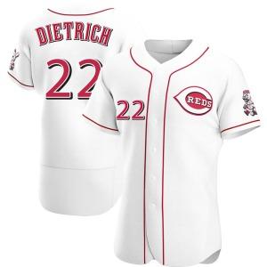 Derek Dietrich Cincinnati Reds Authentic Home Jersey - White
