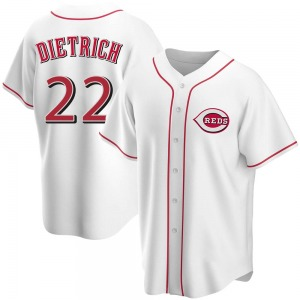 Derek Dietrich Cincinnati Reds Replica Home Jersey - White