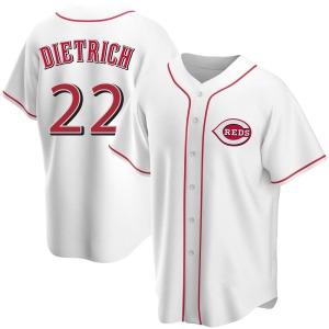 Derek Dietrich Cincinnati Reds Youth Replica Home Jersey - White