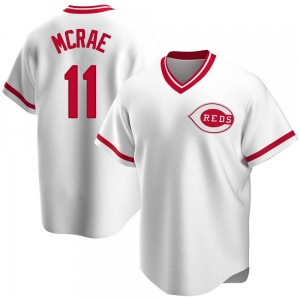 Hal Mcrae Cincinnati Reds Replica Home Cooperstown Collection Jersey - White