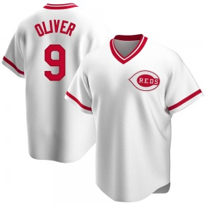 Joe Oliver Cincinnati Reds Replica Home Cooperstown Collection Jersey - White