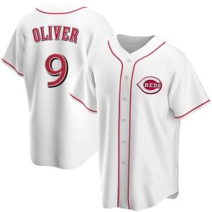 Joe Oliver Cincinnati Reds Replica Home Jersey - White