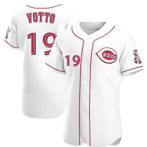 Joey Votto Cincinnati Reds Authentic Home Jersey - White