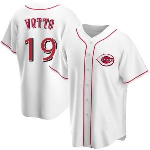 Joey Votto Cincinnati Reds Youth Replica Home Jersey - White