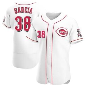 Jose Garcia Cincinnati Reds Authentic Home Jersey - White