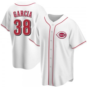 Jose Garcia Cincinnati Reds Youth Replica Home Jersey - White