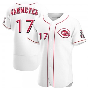 Josh VanMeter Cincinnati Reds Authentic Home Jersey - White