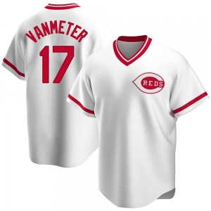 Josh VanMeter Cincinnati Reds Youth Replica Home Cooperstown Collection Jersey - White