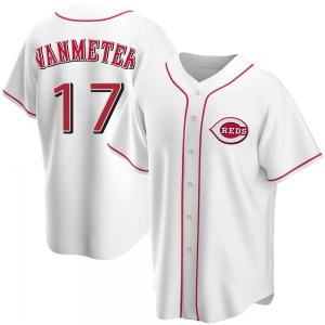 Josh VanMeter Cincinnati Reds Youth Replica Home Jersey - White