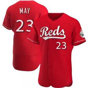 Lee May Cincinnati Reds Authentic Alternate Jersey - Red
