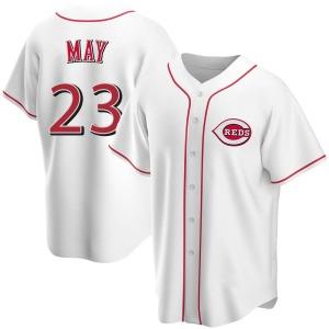 Lee May Cincinnati Reds Replica Home Jersey - White