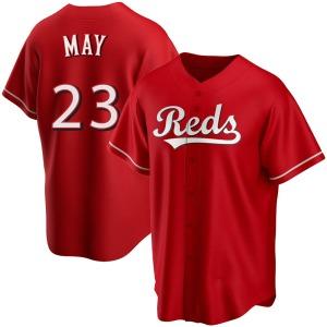 Lee May Cincinnati Reds Youth Replica Alternate Jersey - Red