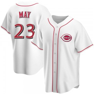 Lee May Cincinnati Reds Youth Replica Home Jersey - White