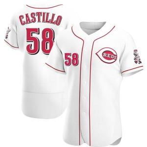 Luis Castillo Cincinnati Reds Authentic Home Jersey - White