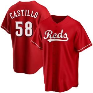 Luis Castillo Cincinnati Reds Replica Alternate Jersey - Red