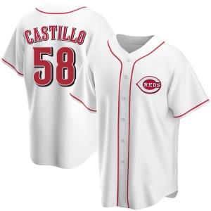 Luis Castillo Cincinnati Reds Youth Replica Home Jersey - White