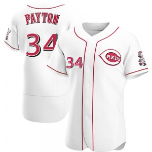 Mark Payton Cincinnati Reds Authentic Home Jersey - White